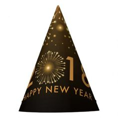 2018 PARTY HAT - New Year's Eve happy new year designs party celebration Saint Sylvester's Day