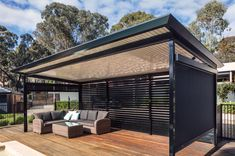 Create an attractive and functional outdoor living area that will enhance your home and lifestyle with the smooth, simple, uncluttered lines of the classic Stratco Outback Flat Roof Verandah, Patio or Carport. Carport Patio, Carport Plans, Outdoor Pergola, Pool Gazebo, Patio Plans, Outdoor Shade, Modern Pergola, Pool Shed, Backyard Sheds