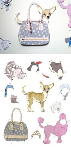 IN YOUR BAG Paperdog Chihuahua  http://toyawalker.wordpress.com/2010/06/11/chihuahua-paperdoll/  #totsbots #picaday
