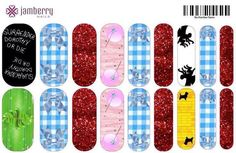 Wizard of Oz inspired nail wraps!  Design your own in the Jamberry nail art studio. http://jessyork.jamberrynails.net/nas