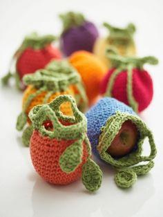 Fruit Cozies | Yarn | Free Knitting Patterns | Crochet Patterns | Yarnspirations. Bernat. Free