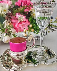Good Morning Coffee, Good Morning Wishes, Coffee Break, Coffee Table Kitchen, Coffee Cafe, Crystal Stemware, Turkish Coffee, Chocolate Coffee, Tea Time