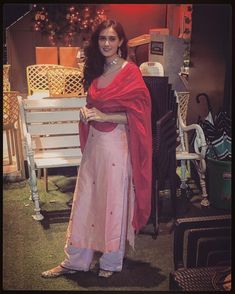 EXCLUSIVE: Yeh Rishta Kya Kehlata Hai's Pankhuri Awasthy: Good to be a part of this family off screen as well Casual Indian Fashion, Punjabi Fashion, Indian Designer Suits, Ethnic Wear Designer, Dress Indian Style, Indian Dresses, Indian Wedding Outfits, Indian Outfits, Dress Paterns