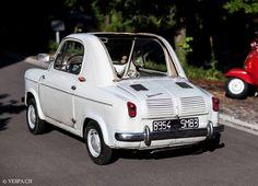Vespa 400, Fiat Abarth, Smart Fortwo, Old Classic Cars, Car Humor, Vintage Cars, Mini, Vehicles, Bubble