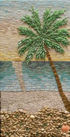 ideas for mosaic wall mural Mosaic Wall, Mosaic Glass, Mosaic Tiles, Stained Glass, Glass Art, Sea Glass, Mosaic Crafts, Mosaic Projects, Mosaic Designs