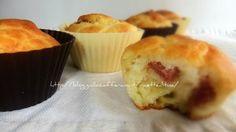 Muffin salame e formaggio - Cheese and salami muffin