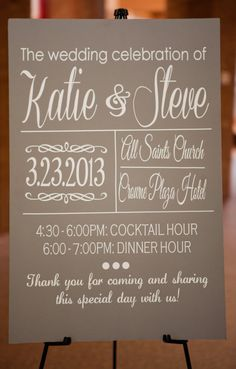 Wedding Ceremony/Reception Welcome Sign by IDoSignDesigns on Etsy, $40.00