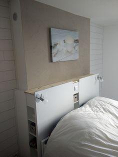 Magnifique tête de lit IKEA avec rangements en DIY  #gnedby #ikea #LINNMON…