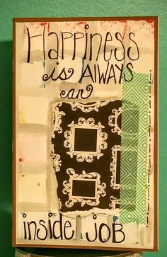 Happiness is Always an Inside Job Hand-written message on a Blank Writing Journal by BookSmartArt on Etsy
