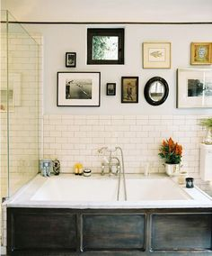 Many bathrooms, especially in master suites, have plenty of room for framed art. The most important consideration is to avoid areas where the frames and art could get wet. If you want your bathroom to be a special retreat, framed art may be the answer.