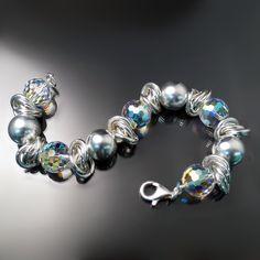 Prismatic Crystal Statement Bracelet - Crystal Jewelry - ZDCB-1301   ZORAN DESIGNS JEWELRY
