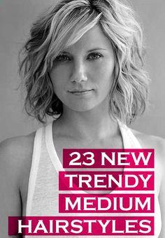 23 Trendy Medium Haircuts for Women : CircleTrest