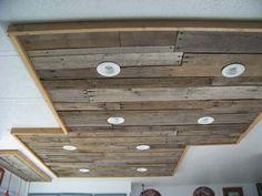 Mueblesdepalets.net: Iluminación en una cocina hecha con tablas de palets de madera