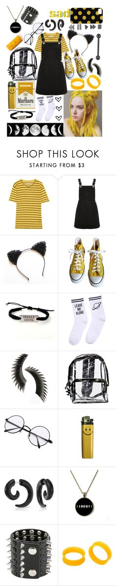 """""""🖤Black and Yellow💛"""" by theabyssofdepression ❤ liked on Polyvore featuring Étoile Isabel Marant, Oasis, Converse, Yeah Bunny, Beauty Is Life, Bling Jewelry and KAOS"""