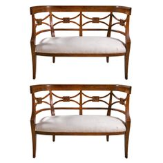 Pair of Sheraton Style Rosewood Settees | From a unique collection of antique and modern canapes at http://www.1stdibs.com/seating/canapes/