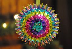 Candy Pop Multicolored Sequin Ornament by AAandBeek on Etsy, $6.00
