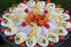CDJetteDC's LCHF: Lækker laksemousse med fyldte æg - LCHF
