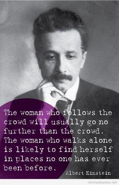 Albert Einstein - About woman quote.