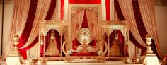 This wedding season make your function a grand one with 24 dazzling wedding stage decoration ideas that you haven& seen in any other wedding. Wedding Hall Decorations, Backdrop Decorations, Wedding Mandap, Wedding Ceremony, Wedding Backdrops, Wedding Venues, Wedding Dresses, Indian Wedding Stage, Moroccan Wedding