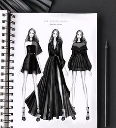 my black beauties from the last student collection ♀️ digital illustrations. There is a long explanation for the collection title, but…