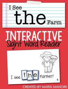 Super-Exclusive FREE Interactive Sight Word Reader - Kinder Craze