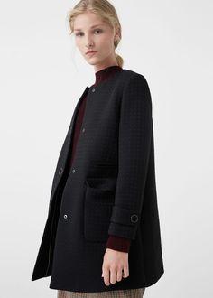 Manteau texturé - Manteau pour Femme | MANGO France