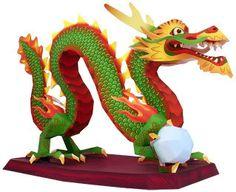 Lung (nombre del dragón chino). Es muy importante en la cultura china, por eso representa la mayor Riqueza y su lugar corresponde al Sureste de nuestros espacios