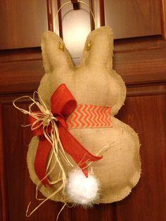 Burlap Bunny Door Hanger