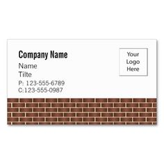 Half Brick Wall Business Card Templates Cards