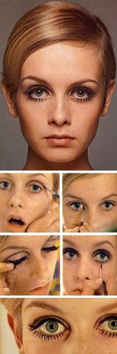 Sixties make-up how-to.