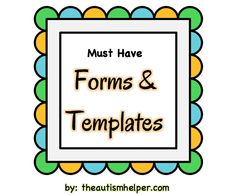Must Have Forms & Templates for a Special Ed Classroom {Get organized and stay organized with this resources of over 50 forms, templates, and sample letters!} by theautismhelper.com