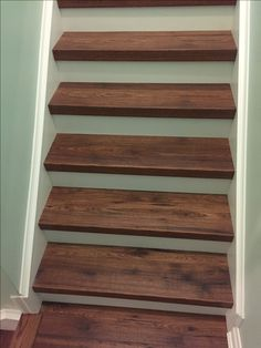 Laminate Seamlessly Installed On Steps, With Stained Cap At Front. Custom  Project By Grand · Laminate Flooring On StairsInstalling Laminate ...