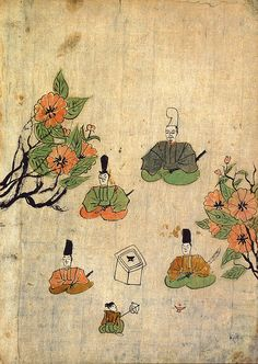 Karukaya, Japan's first illustrated book, circa 1400