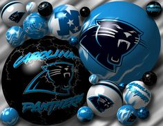 Panthers Holiday Tree Daren's man cave haha | Love them Panthers ...
