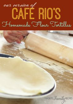 These homemade flour tortillas taste amazing and they are so easy!  Find all our yummy pins at https://www.pinterest.com/favfamilyrecipz/
