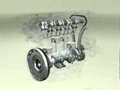 Este es un vídeo de un motor de cuatro tiempos