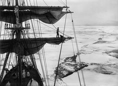 In the Ice Pack from the Main Top, Scott Expedition, Antarctica by Herbert George Ponting 1910