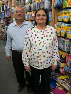 Minu and Preshant Shah, Owners of Futterman's Stationery