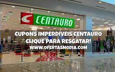 Cupons imperdíveis para comprar na Centauro. Veja como resgatar em www.ofertasnodia.com