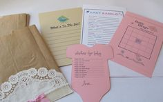 Baby Shower Games 12 Handmade Doily and Pearl Bags. $20.00, via Etsy.