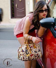 Jessica #models #red #photography #bags #fashion