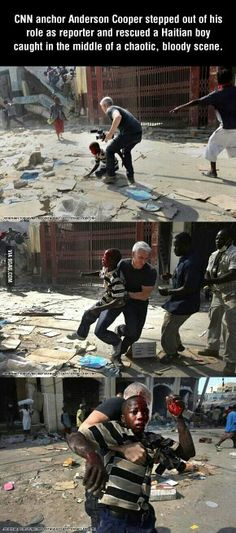 Hero Anderson Cooper Faith In Humanity Restored – 24 Pics We Are The World, Change The World, I Smile, Make Me Smile, Gives Me Hope, Faith In Humanity Restored, Just Dream, Good People, Amazing People