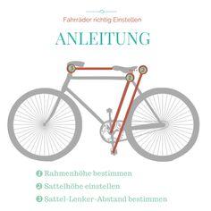 Damit das Radfahren auf Dauer Spaß macht, ist ein richtig eingestelltes Fahrrad die Grundvoraussetzung. So stellst du die richtige Rahmenhöhe, Sattelhöhe und Lenkerposition ein.