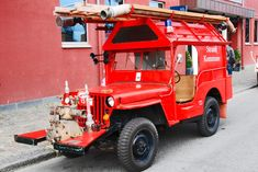 Overloaded Willys MB Jeep Fire Truck based on CJ-2A