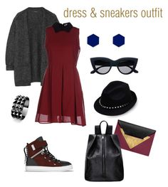 """dress & sneakers"" by jessicaahn on Polyvore featuring Isabel Marant, Anonyme Designers, SWEAR, Valentino, Dareen Hakim, Waterford and Wolf & Moon"