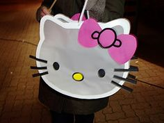 Laterne - hello kitty