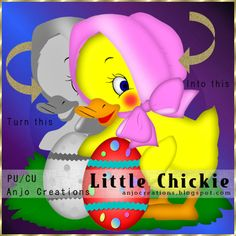Anjo Creations: CU Template Little Chickie