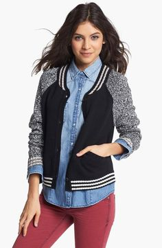 Go team! We love this Letterman cardigan.