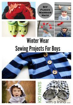 Boy, Oh Boy, Oh Boy Crafts: Winter Wear Sewing Projects and Patterns For Boys