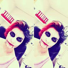 #makeup #joker  #hair Amelie May, Joker, Cosplay, Makeup, Instagram Posts, Hair, Fictional Characters, Make Up, The Joker
